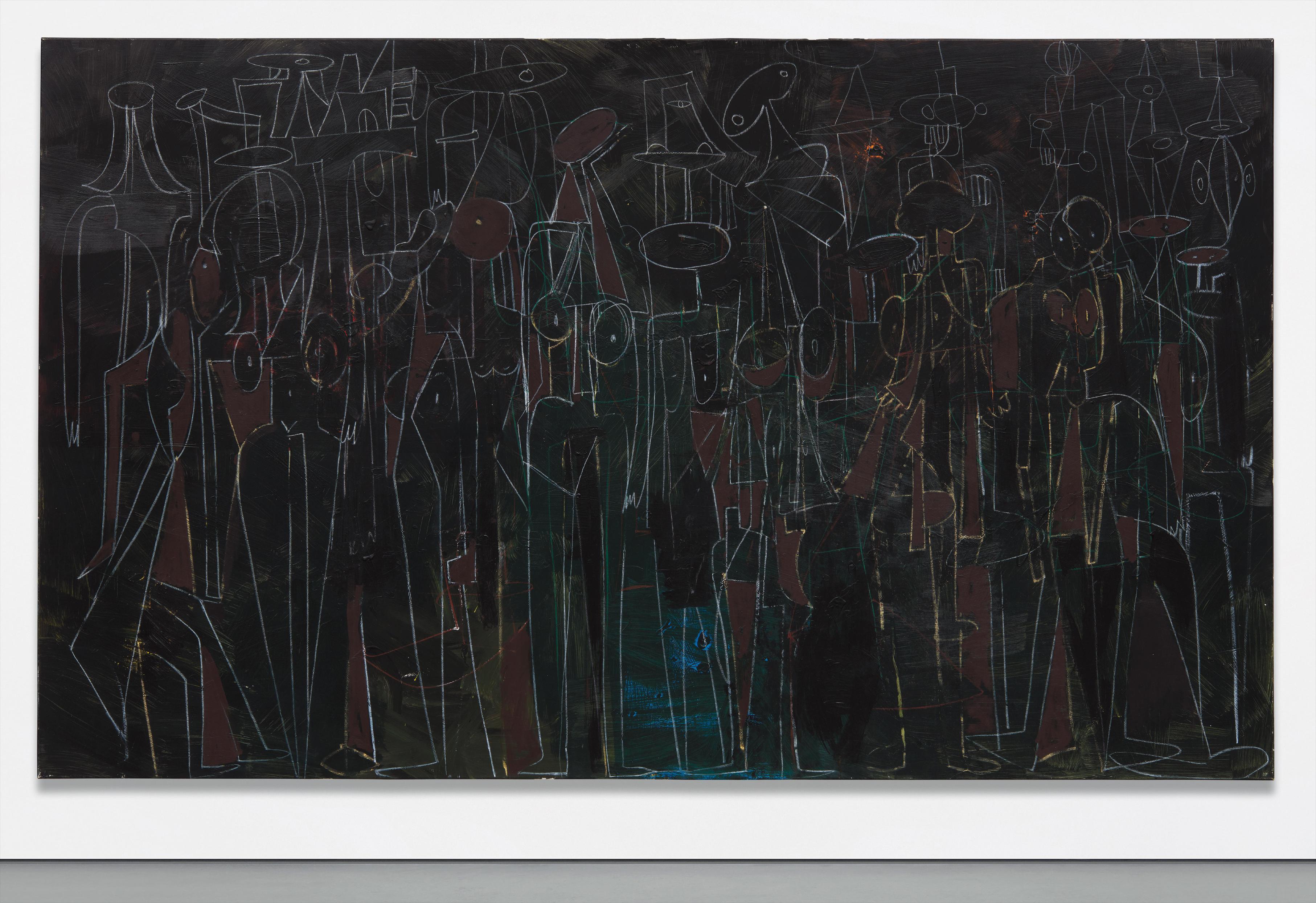 George Condo-Black Standing Figures-2000