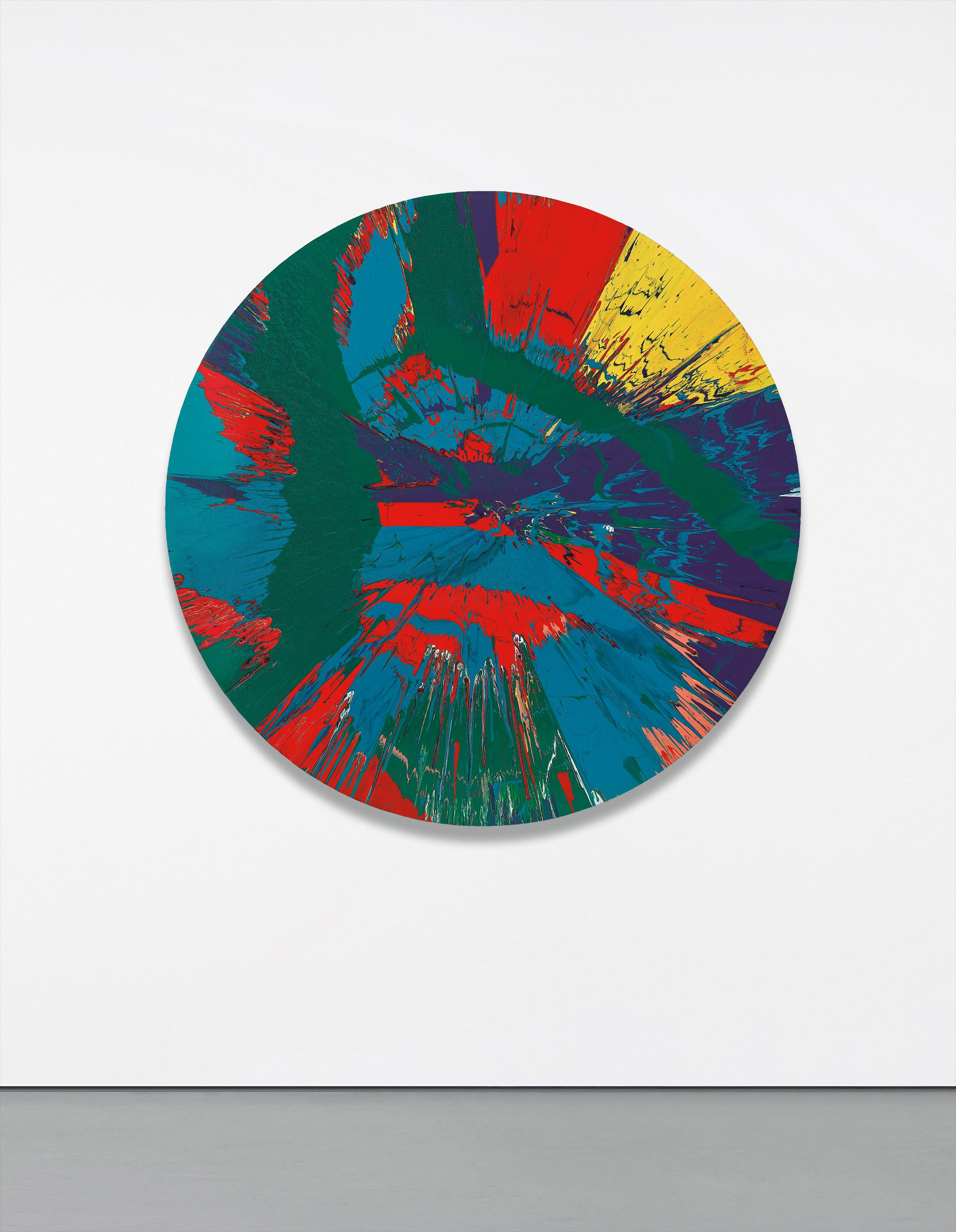Damien Hirst-Beautiful Bloody Revolutionary Supersonic French Spin Painting For The Amazing Anne-Sophie-2014