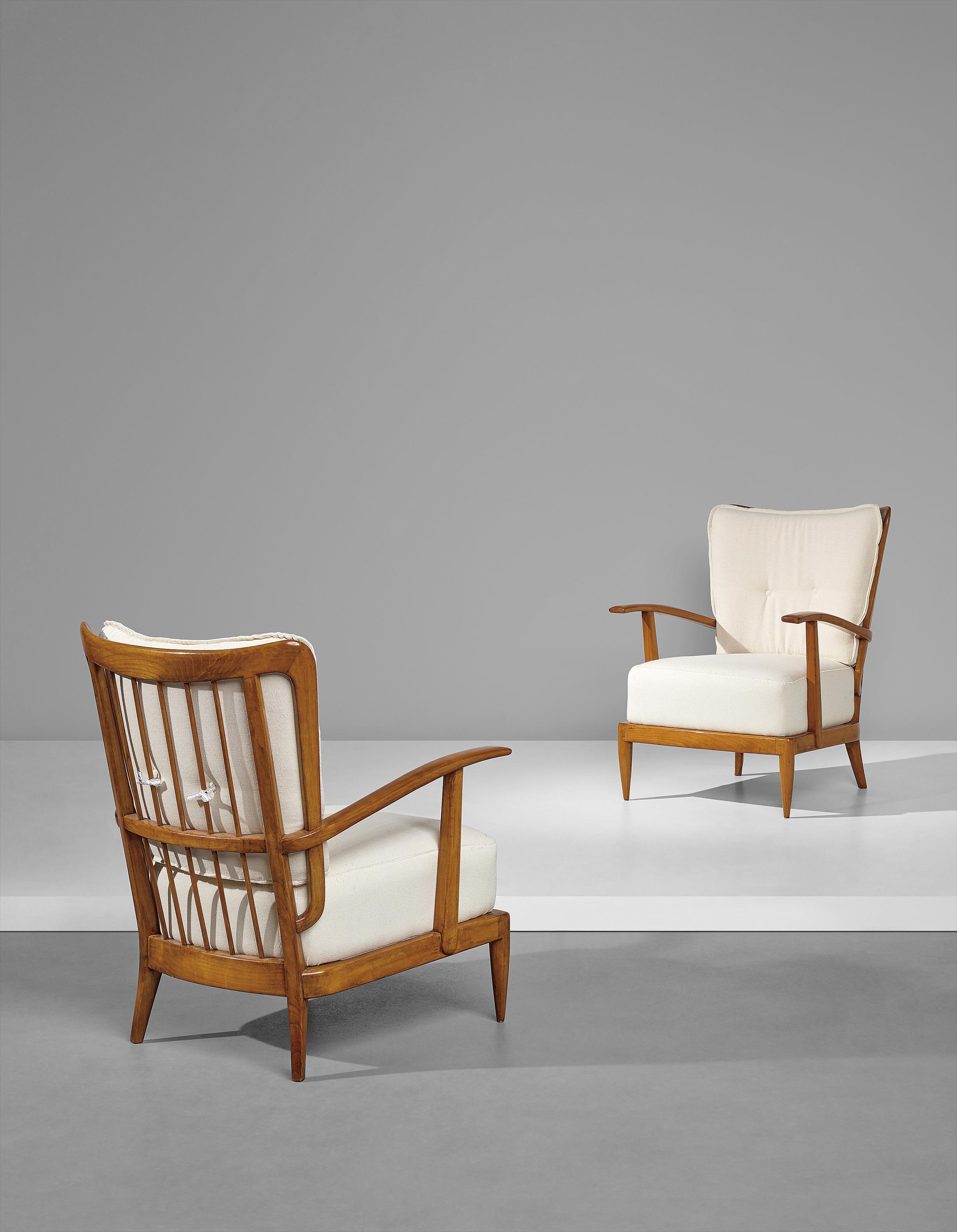 Paolo Buffa - Pair Of Armchairs-1950