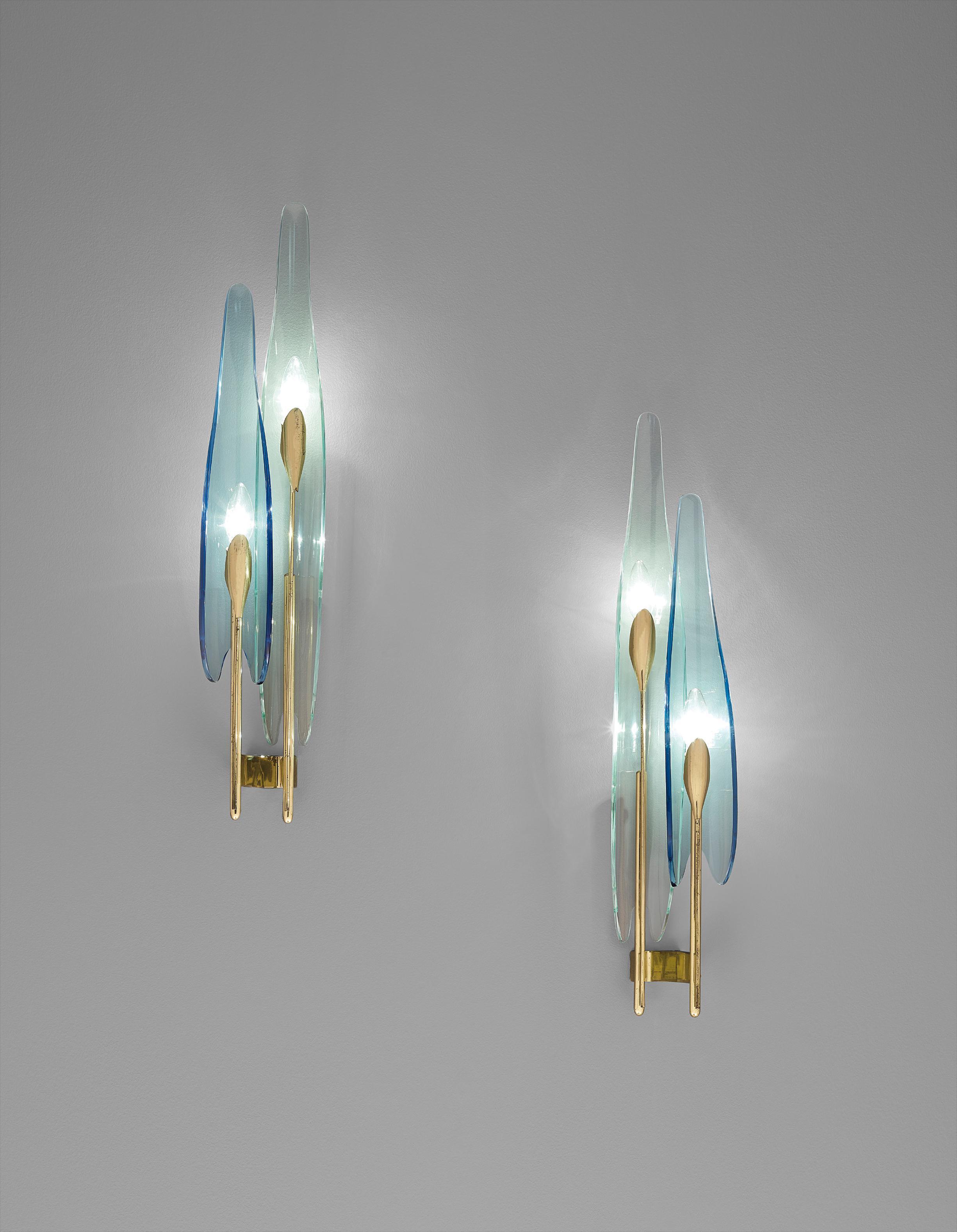 Max Ingrand - Pair Of Dahlia Wall Lights, Model No. 1461-1950