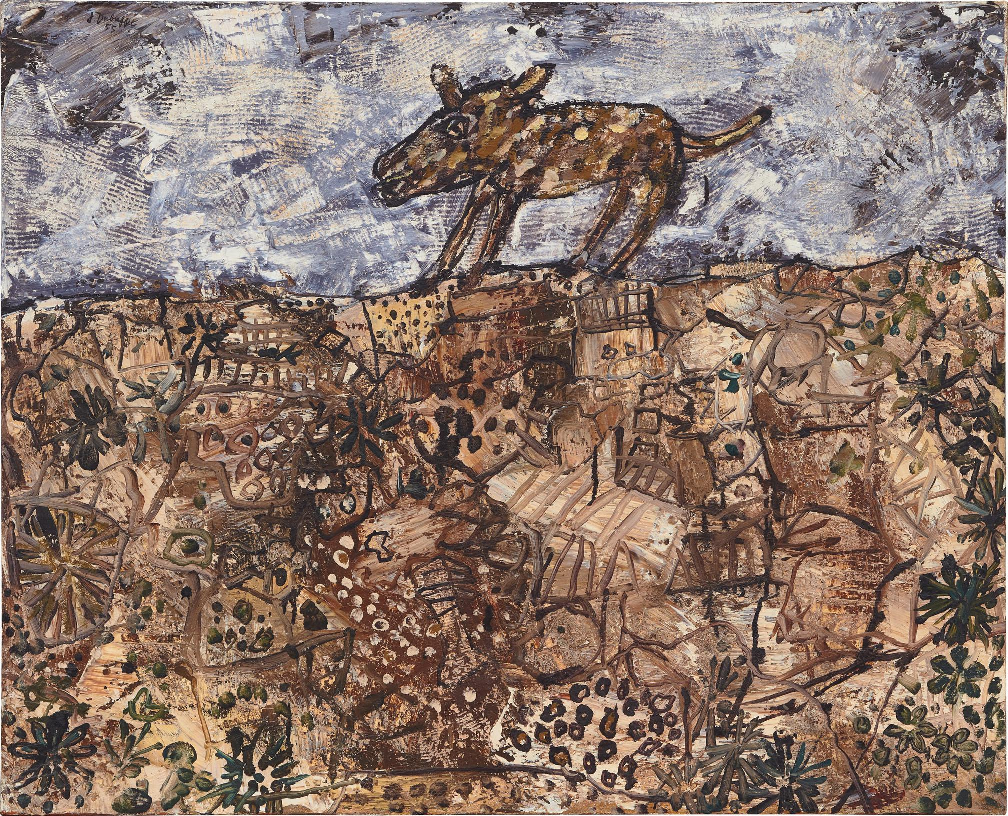 Jean Dubuffet-Le Chien Rodeur-1955