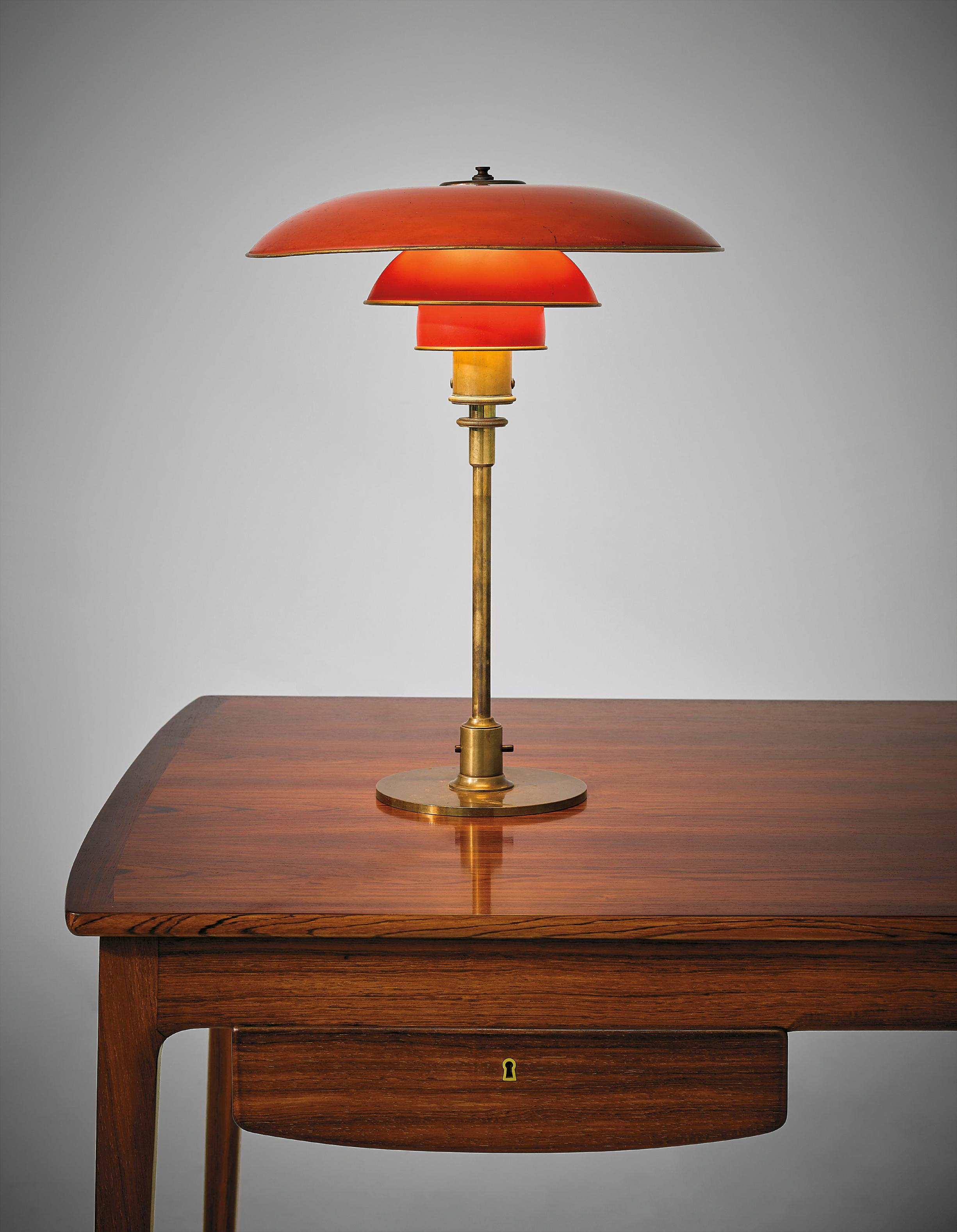 Poul Henningsen - Early Desk Lamp, Type 4/3 Shades-1928