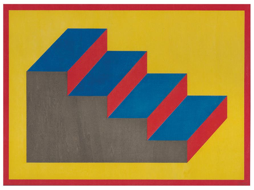 Sol LeWitt-Form Derived From A Cubic Rectangle (Steps)-1992
