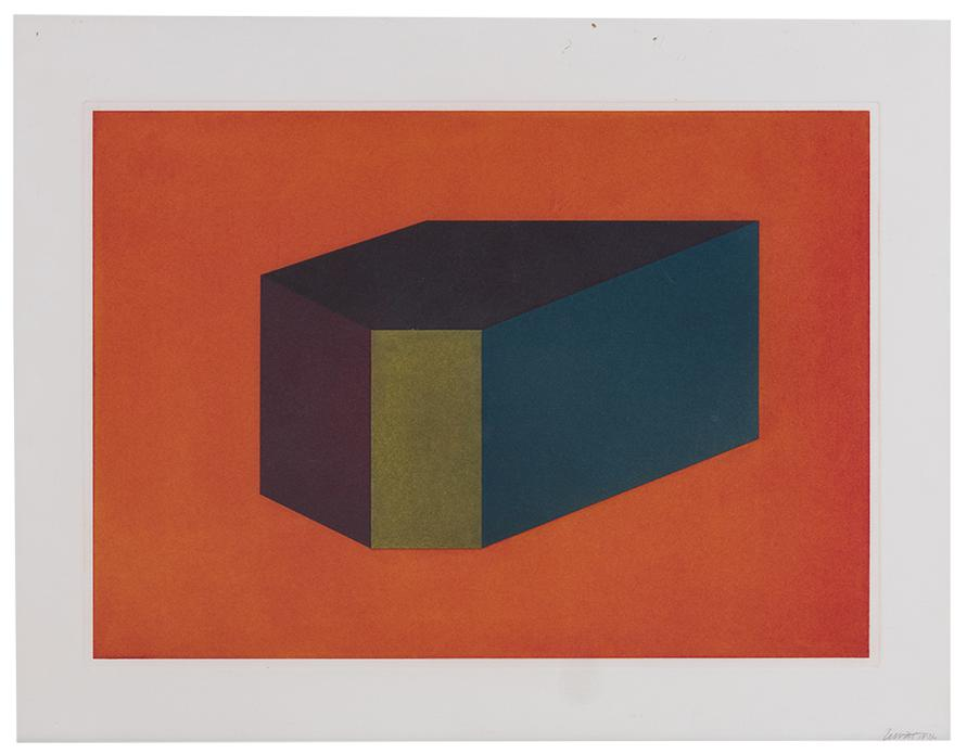 Sol LeWitt-Plate 4 (From Forms Derived From A Cubic Rectangle Suite)-1990