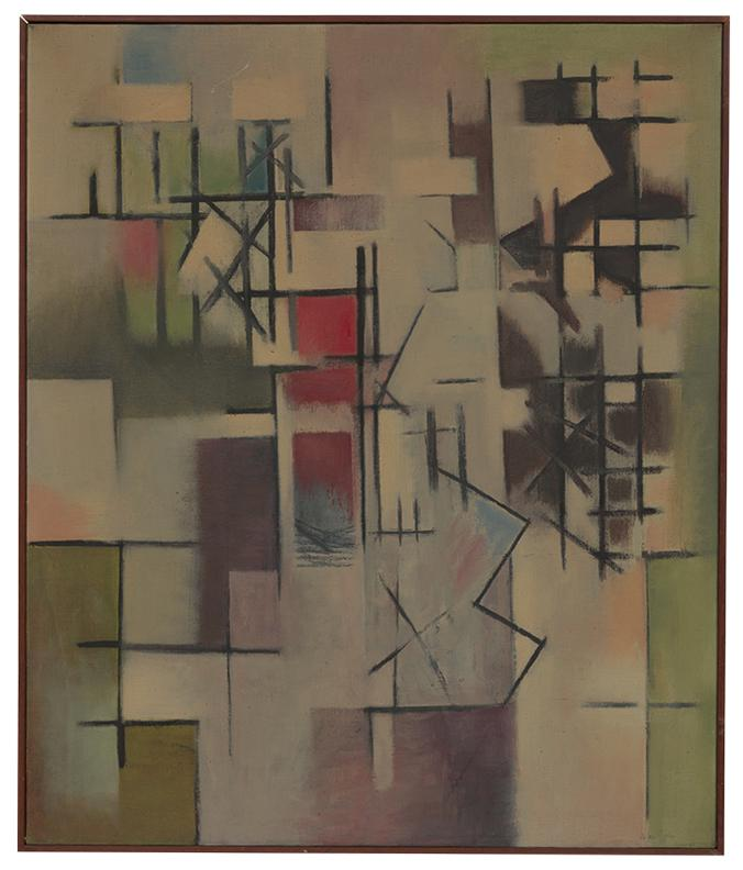 Jean Xceron - Red Above-1950