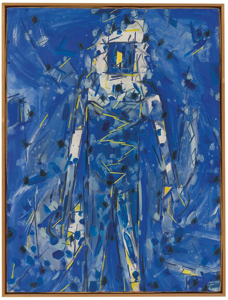 Lee Mullican-Blue Bringer-1989