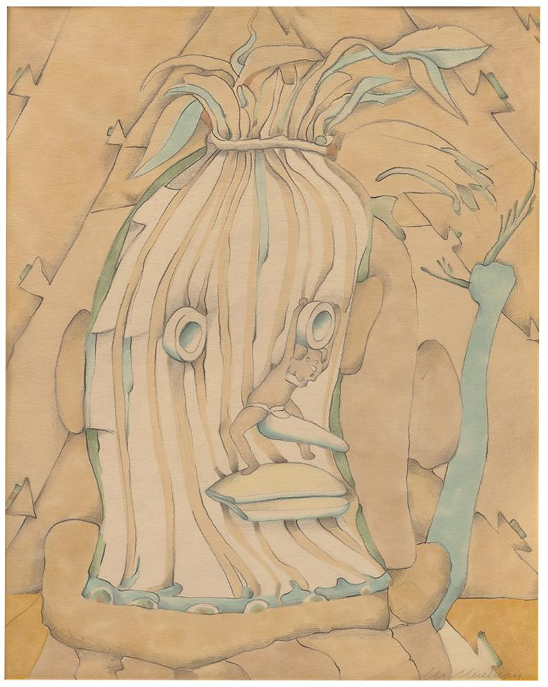 Lee Mullican-Spirit Head Awake-1978