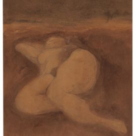 Bruce Conner-Untitled (Reclining Nude)-1957