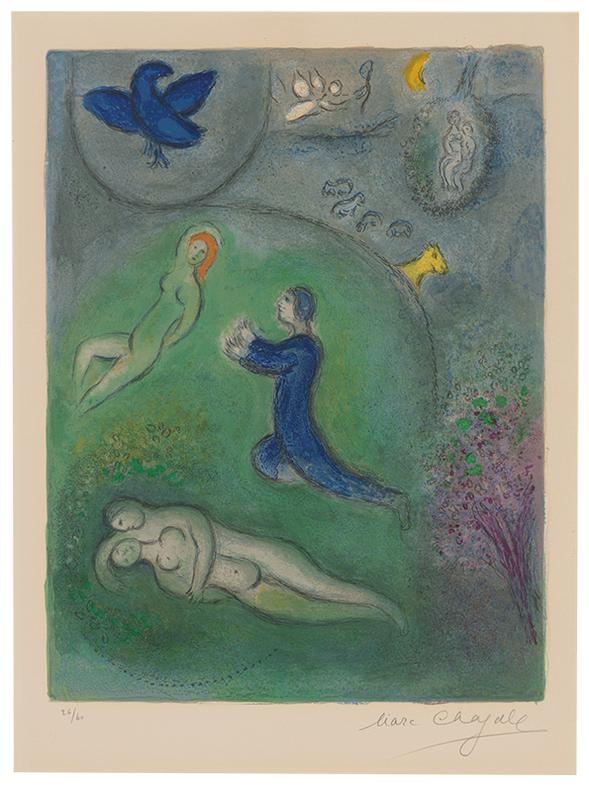 Marc Chagall-Daphnis Et Lycenion (From Daphnis Et Chloe)-1961
