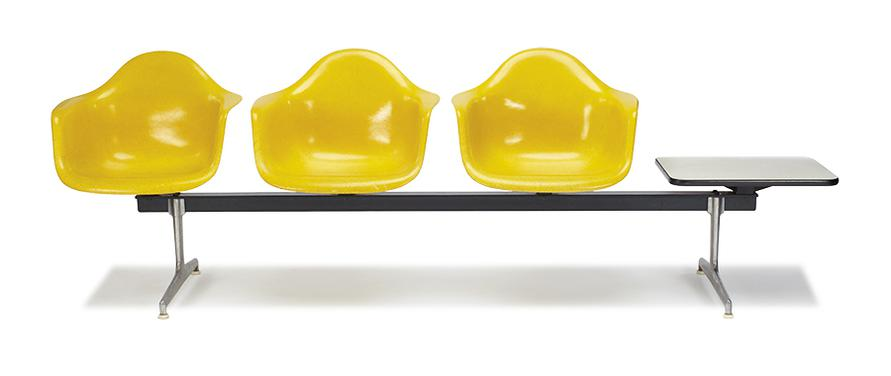 Charles & Ray Eames - Tandem Shell Seating-1963