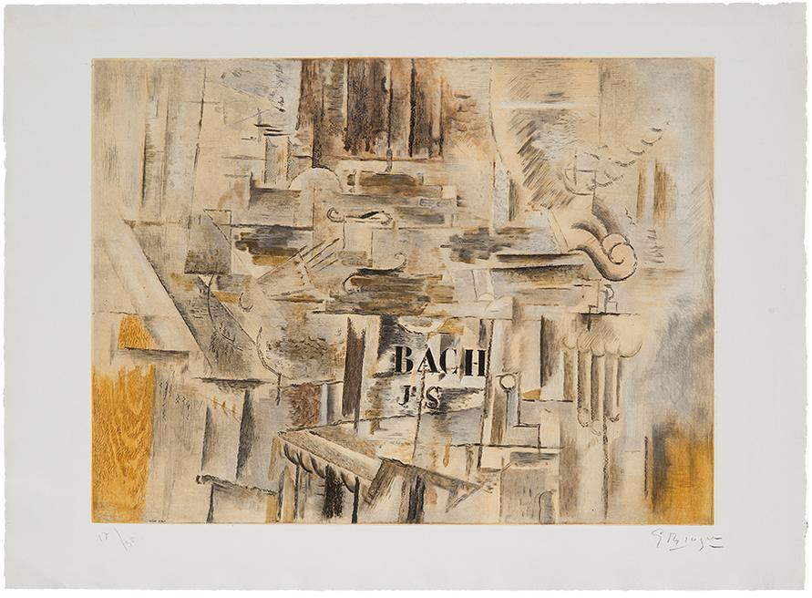 Georges Braque-Hommage A J.S. Bach-1950
