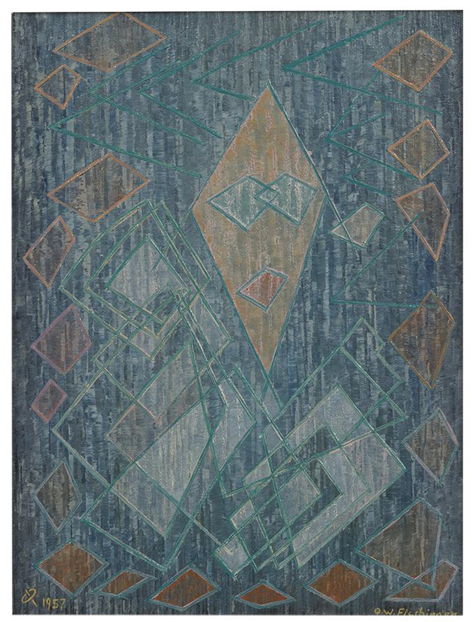 Oskar Fischinger - Untitled (#2030)-1957