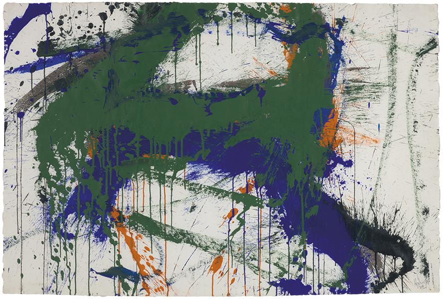 Norman Bluhm-Over And Under Blue-1964