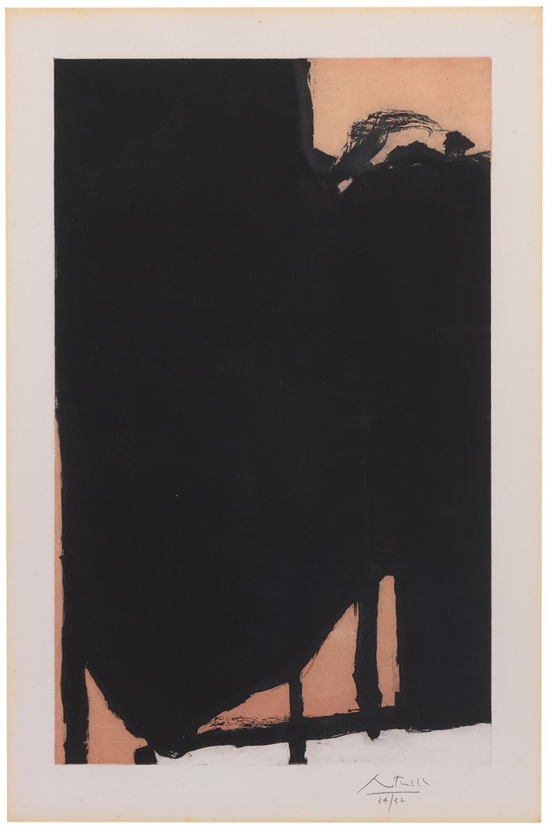 Robert Motherwell-Elegy Fragment II-1985