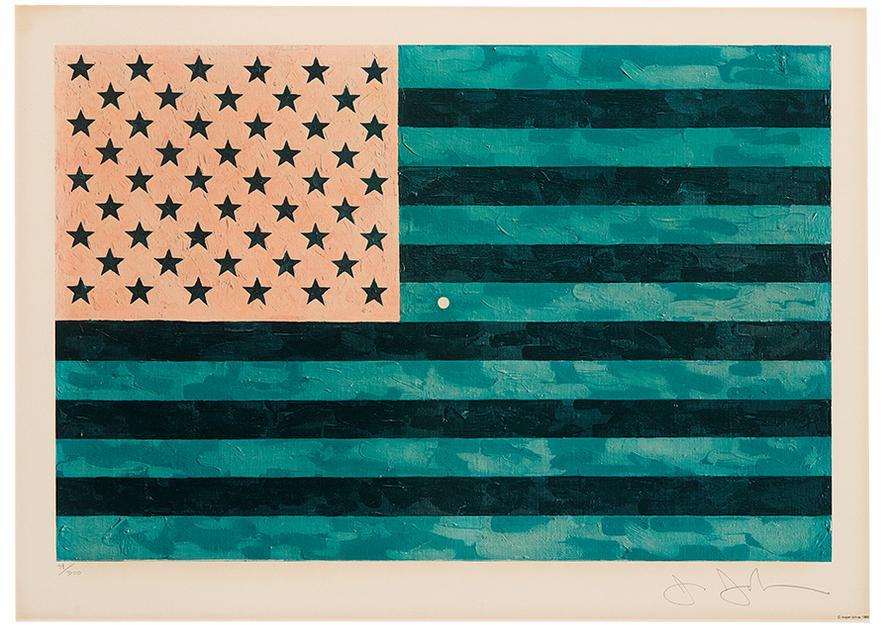 Jasper Johns-Flag (Moratorium)-1969