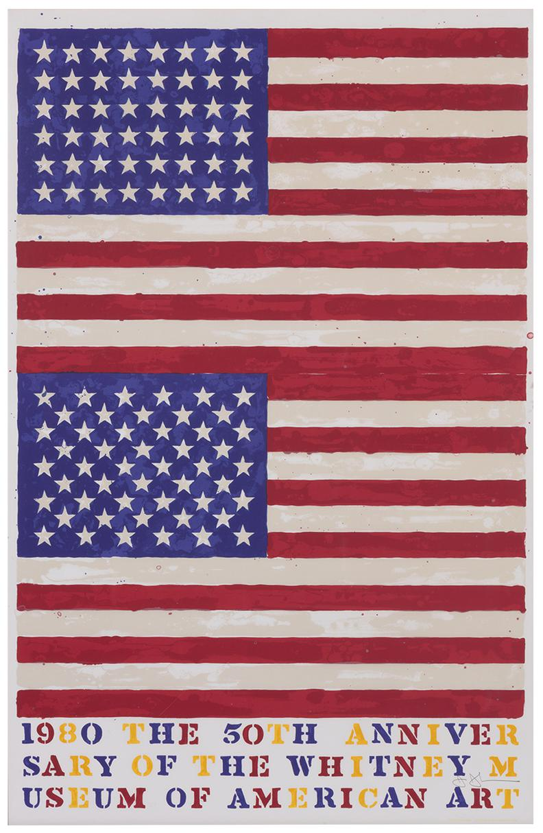 Jasper Johns-Two Flags (Whitney Anniversary)-1980