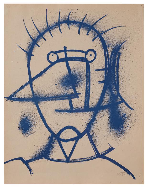 Rufino Tamayo-Portrait Of A Man (Hombre)-1953