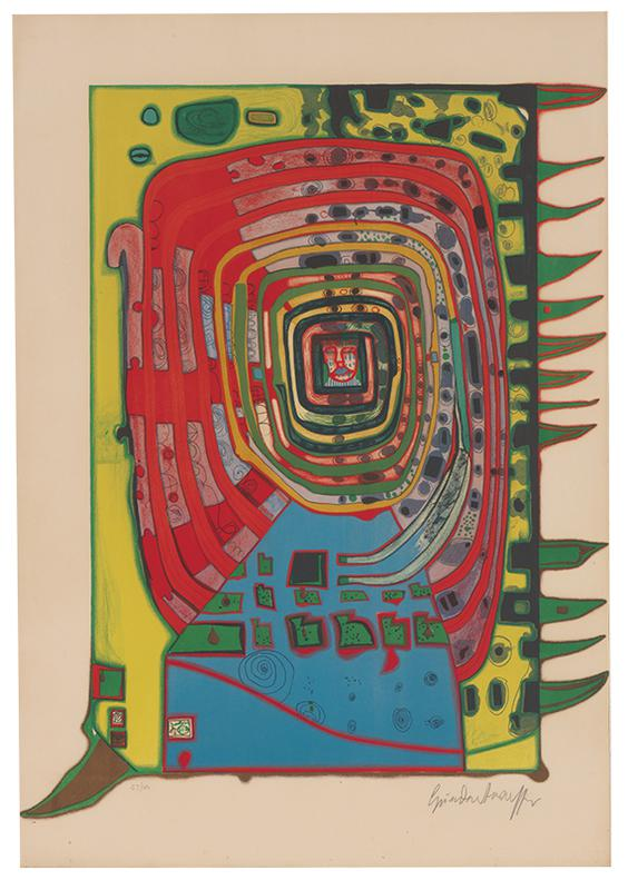 Friedensreich Hundertwasser-The False Eyelash-1967