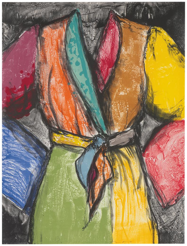 Jim Dine-Double Dose Of Color (Diptych)-2009