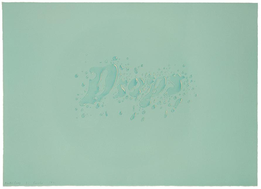 Ed Ruscha-Drops-1971