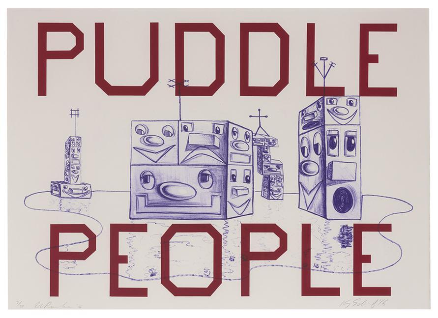 Ed Ruscha-Puddle People-2016