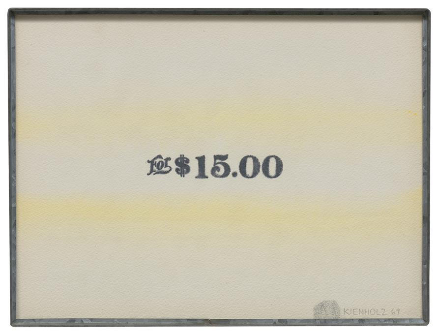 Edward Kienholz-For $15.00-1969