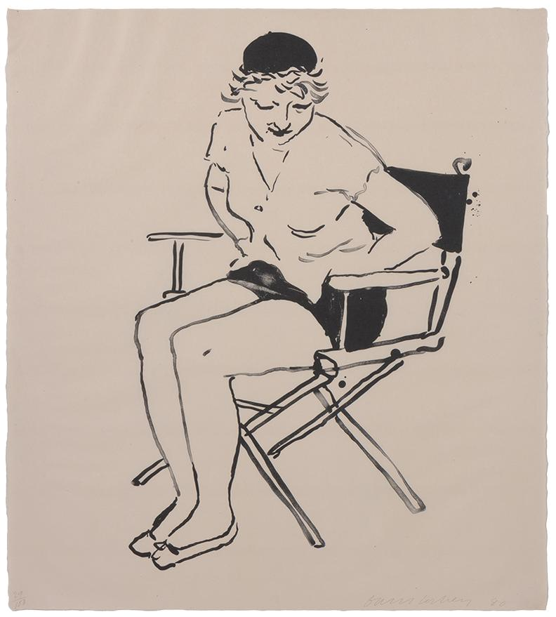David Hockney-Celia In The Directors Chair-1980