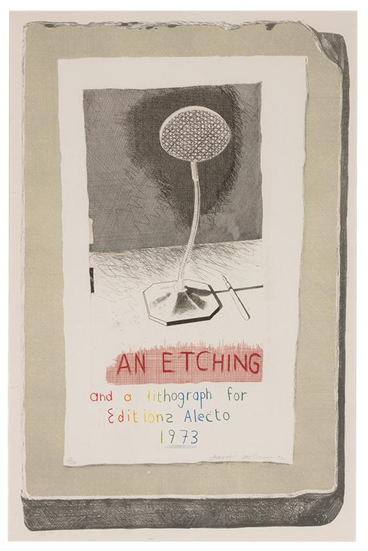 David Hockney-An Etching And A Lithograph For Editions Alecto 1973-1973