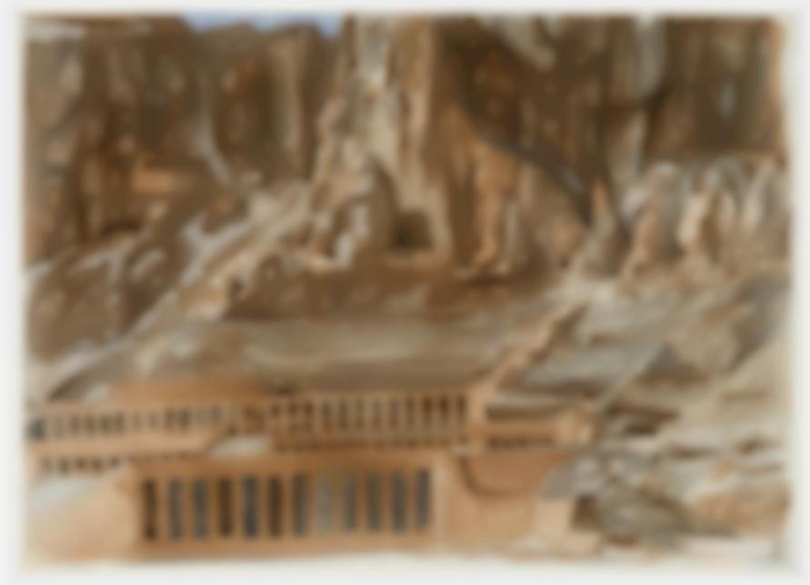 Philip Pearlstein-The Temple Of Hatshepsut; Tintern Abbey (2)-1979