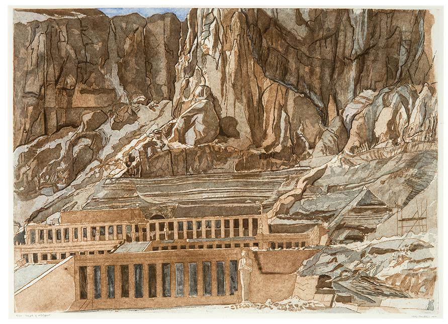 Philip Pearlstein-The Temple Of Hatshepsut; Tintern Abbey (2)-1979