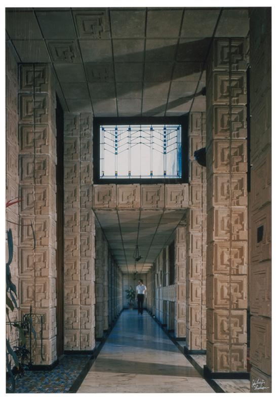 Julius Shulman-Interior Of Ennis House, Los Angeles-1980