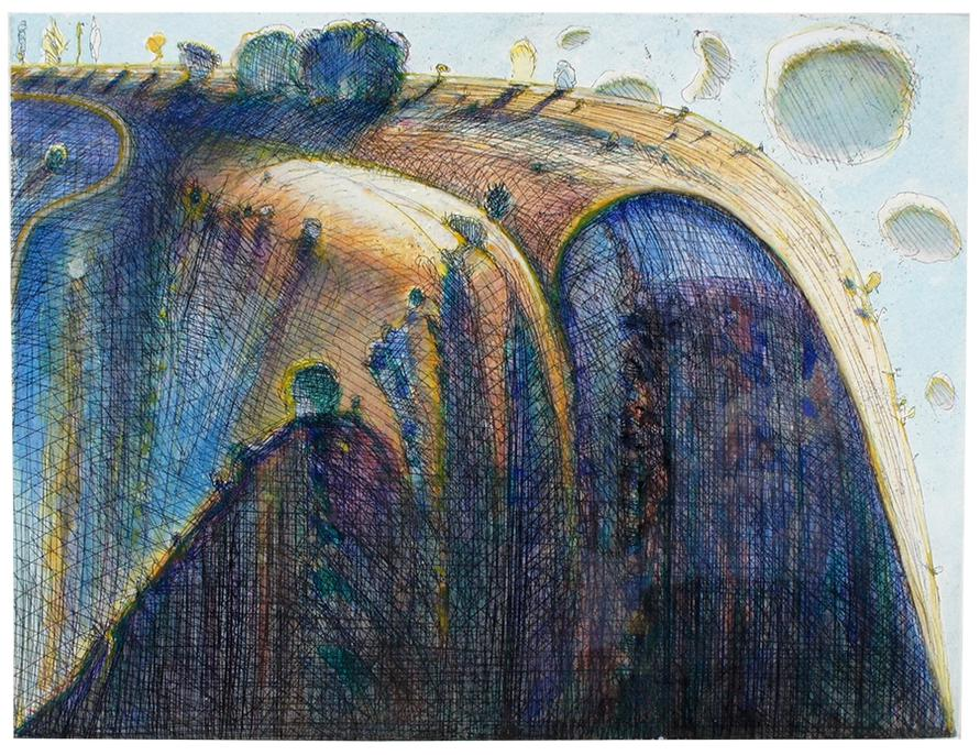 Wayne Thiebaud-California Ridge-1988