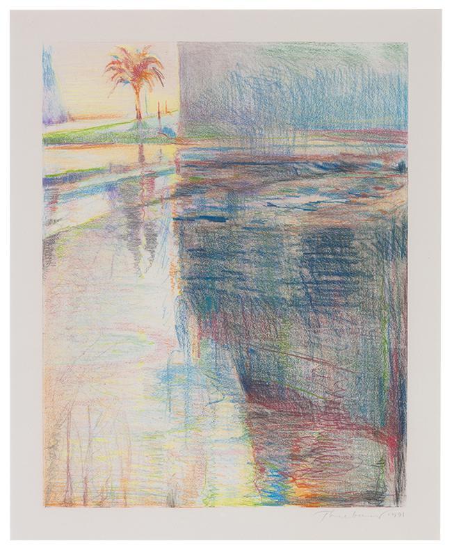 Wayne Thiebaud-Untitled (Reflected Palm Tree)-1991