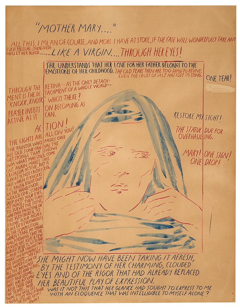 Raymond Pettibon-No Title (Mother Mary...)-1991