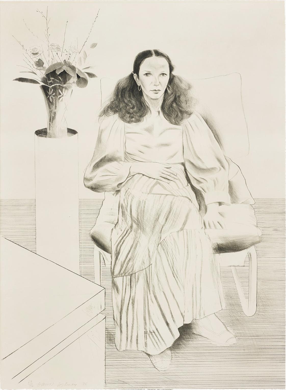 David Hockney-Brooke Hopper, From Friends-1976