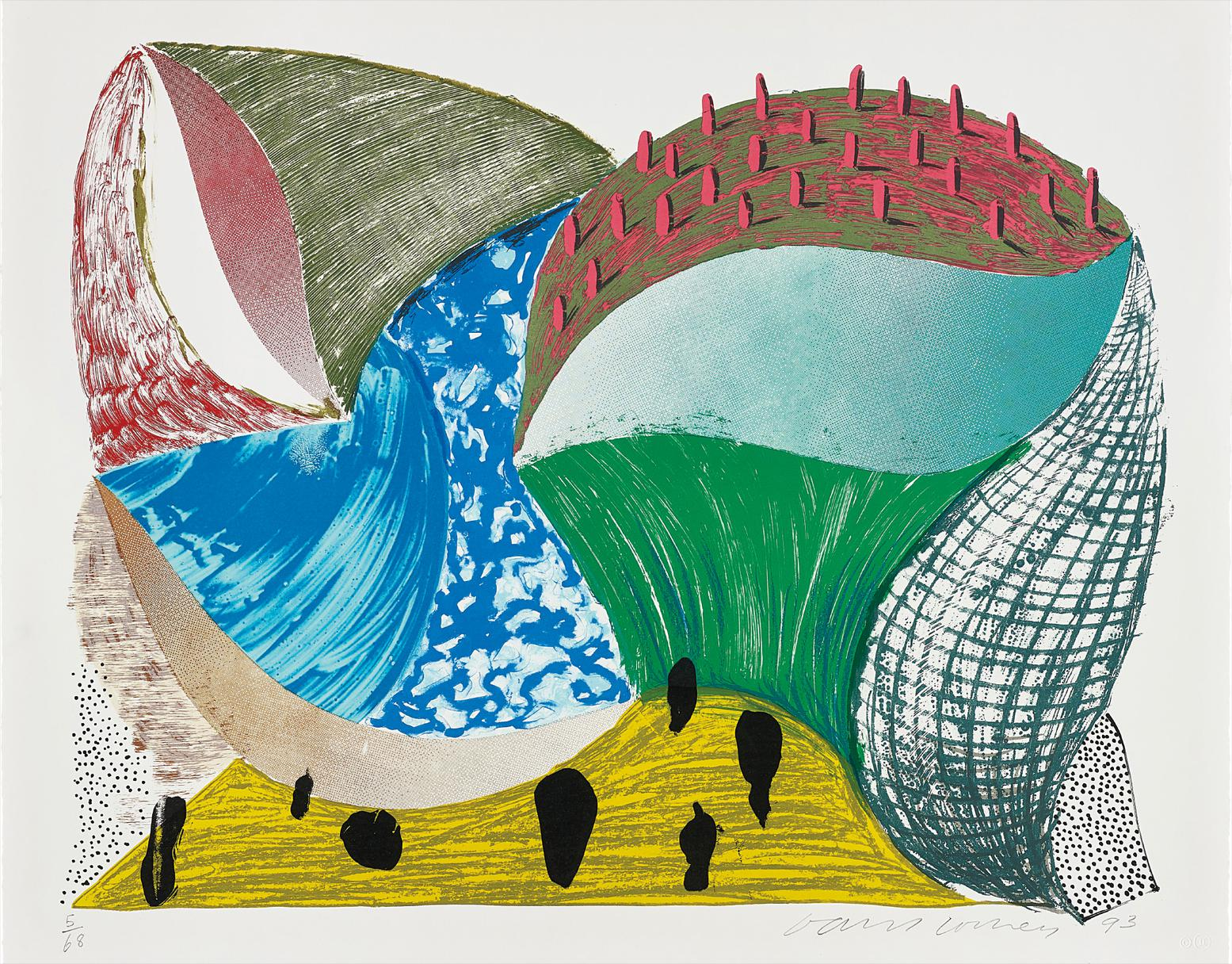 David Hockney-Gorge Dincre, From Some More New Prints-1993