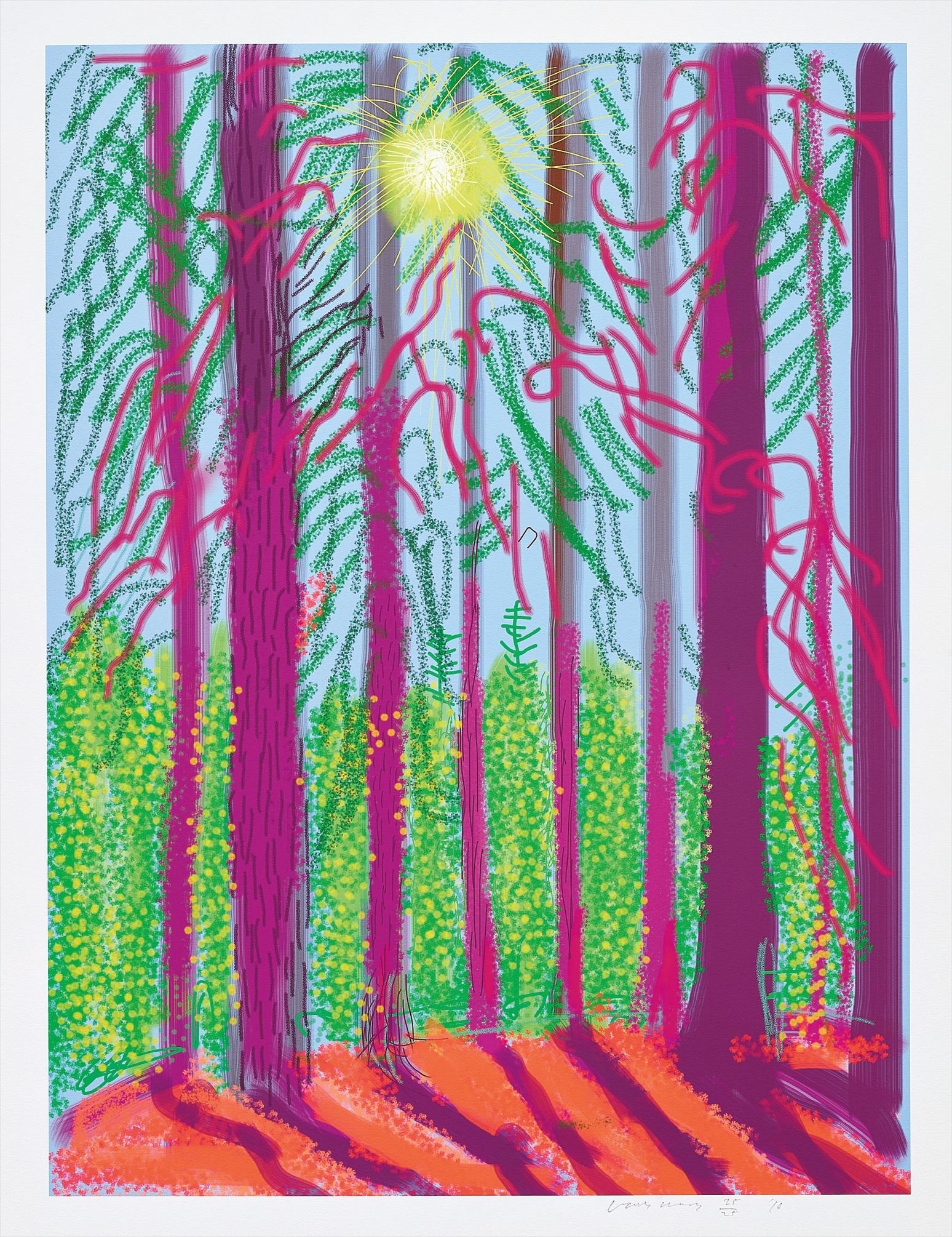 David Hockney-Untitled No. 4, From The Yosemite Suite-2010