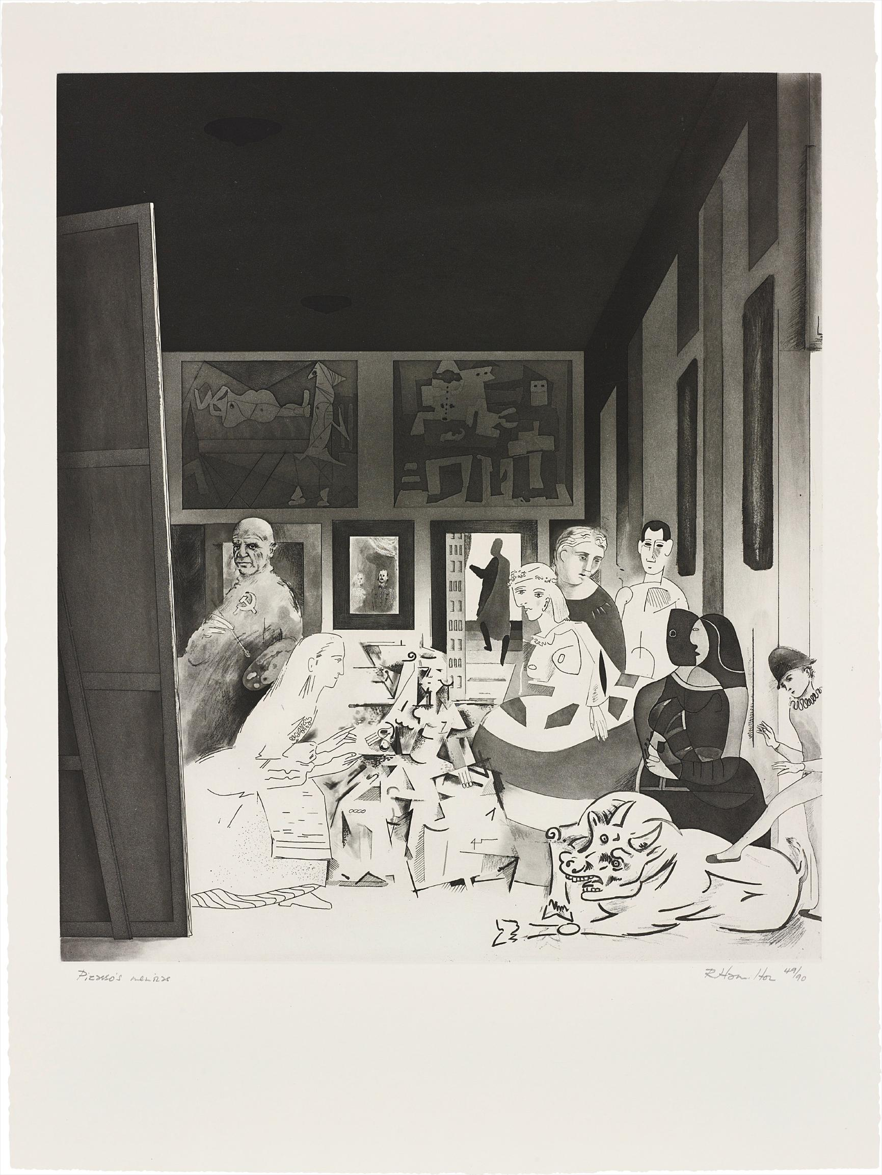 Richard Hamilton-Picassos Meninas, From Hommage A Picasso-1973