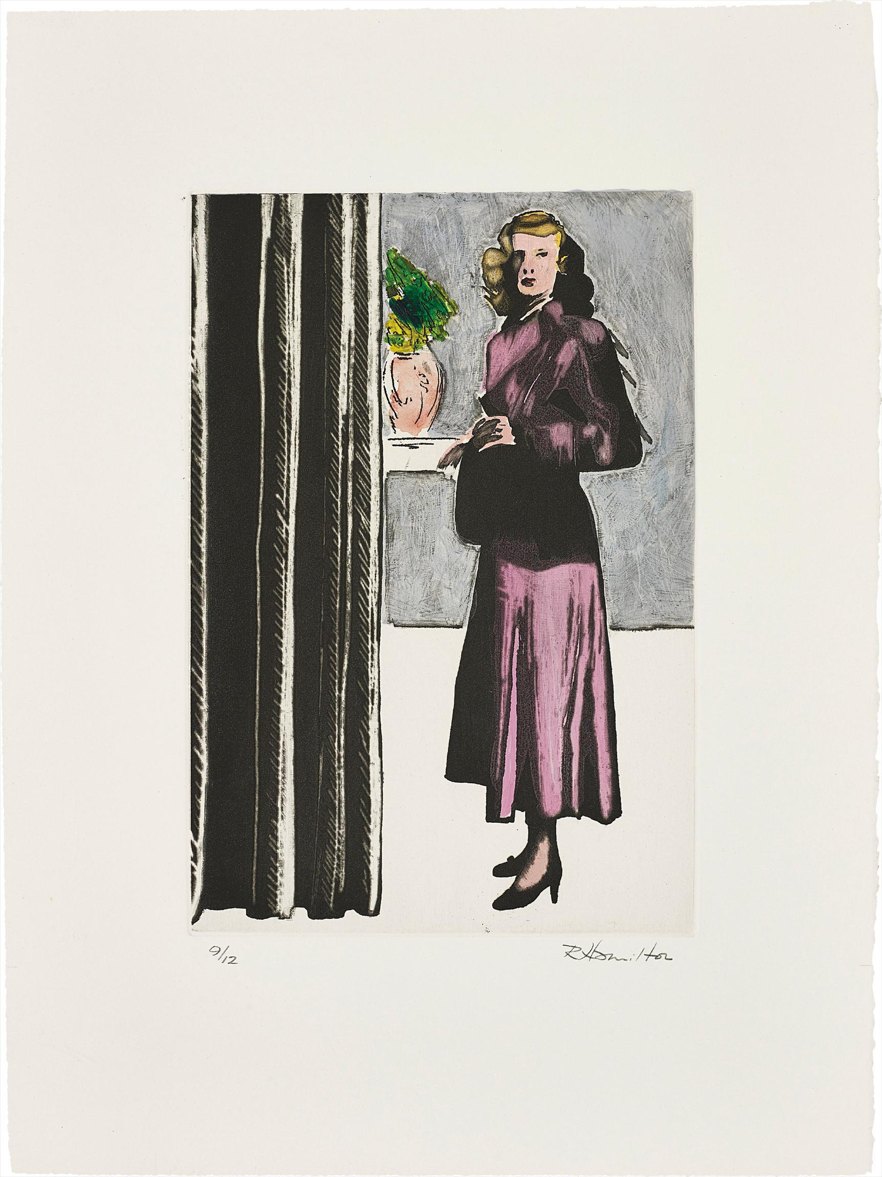 Richard Hamilton-Patricia Knighti (Coloured)-1982