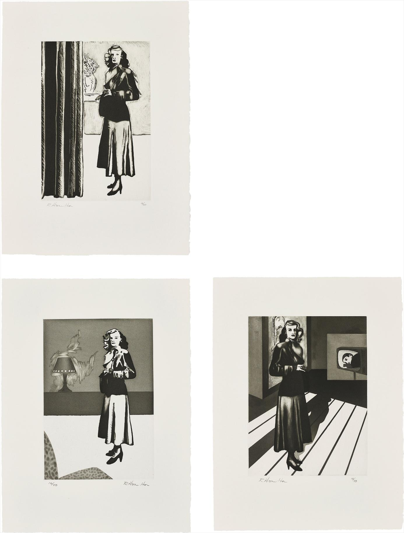 Richard Hamilton-Patricia Knight I, II And III-1982