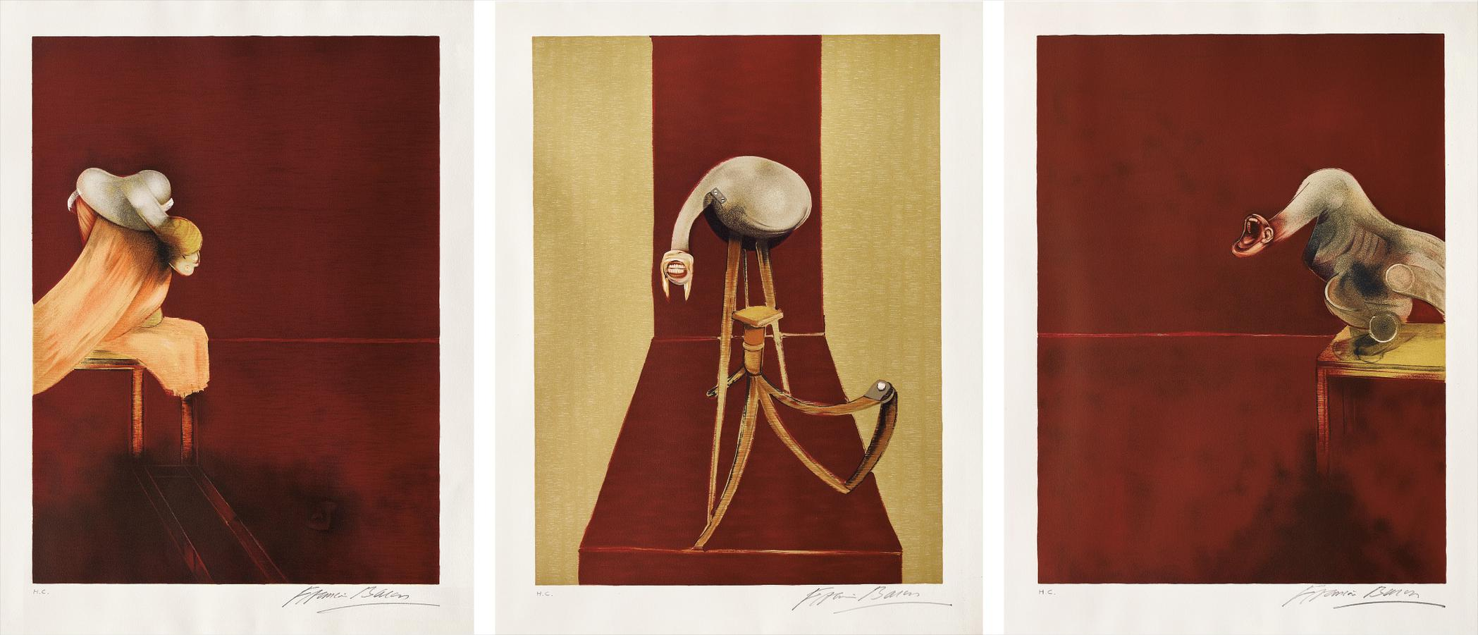 Francis Bacon-Deuxieme Version Du Triptyque, 1944, (After, Second Version Of The Triptych 1944)-1989