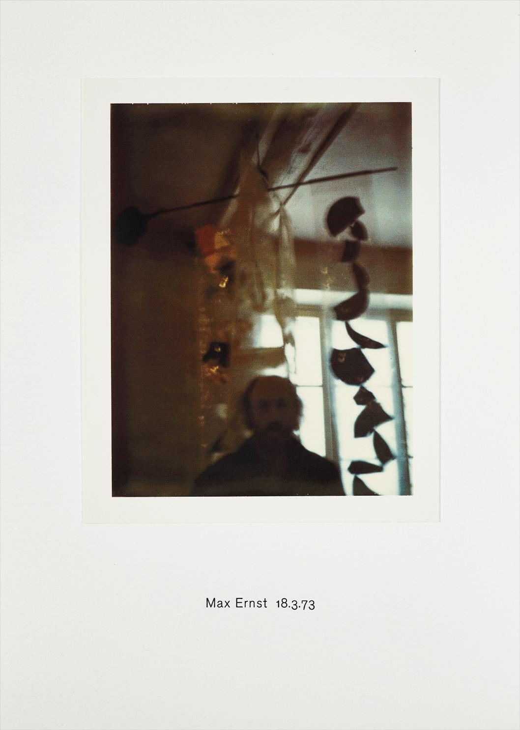 Richard Hamilton-Polaroid Portrait: Max Ernst 18.3.73-2010