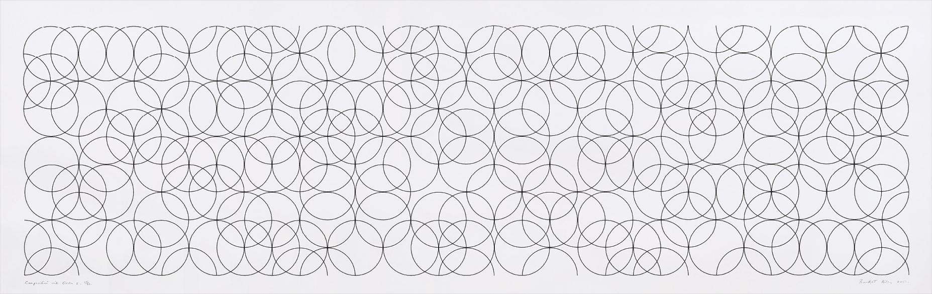Bridget Riley-Composition With Circles 2-2001
