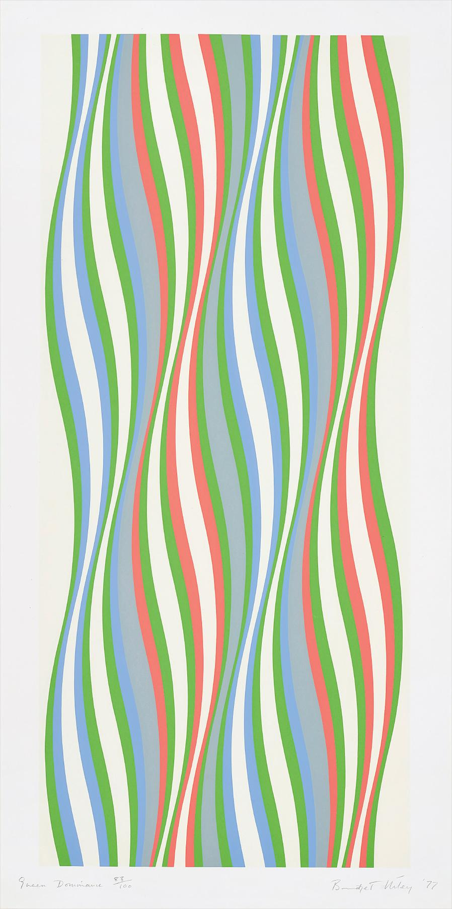 Bridget Riley-Green Dominance-1977