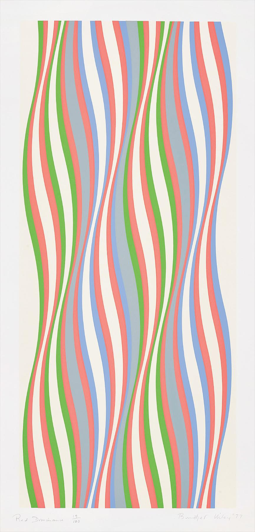 Bridget Riley-Red Dominance-1977