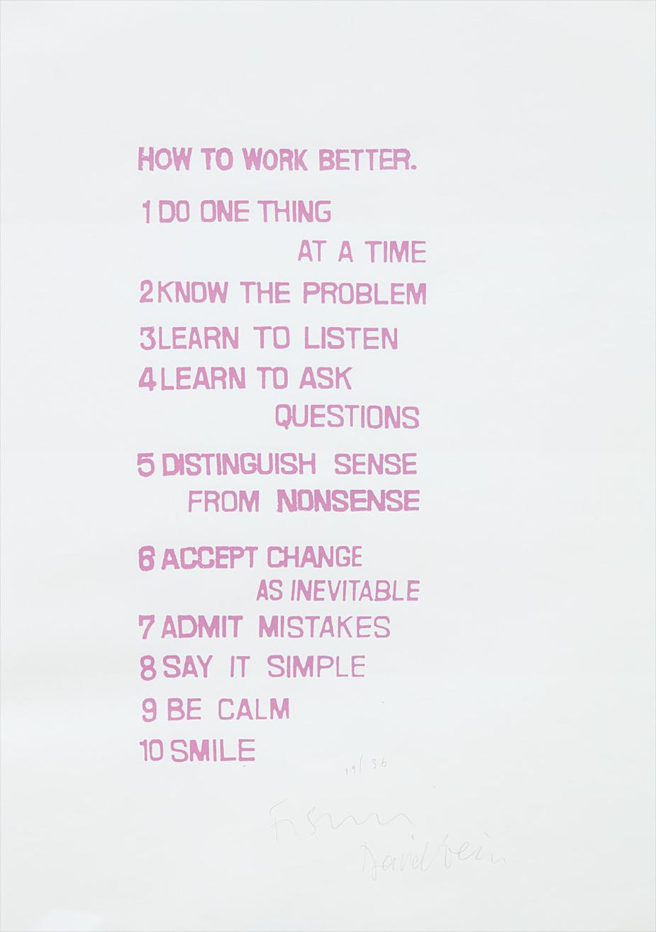 Peter Fischli & David Weiss-How To Work Better-1991