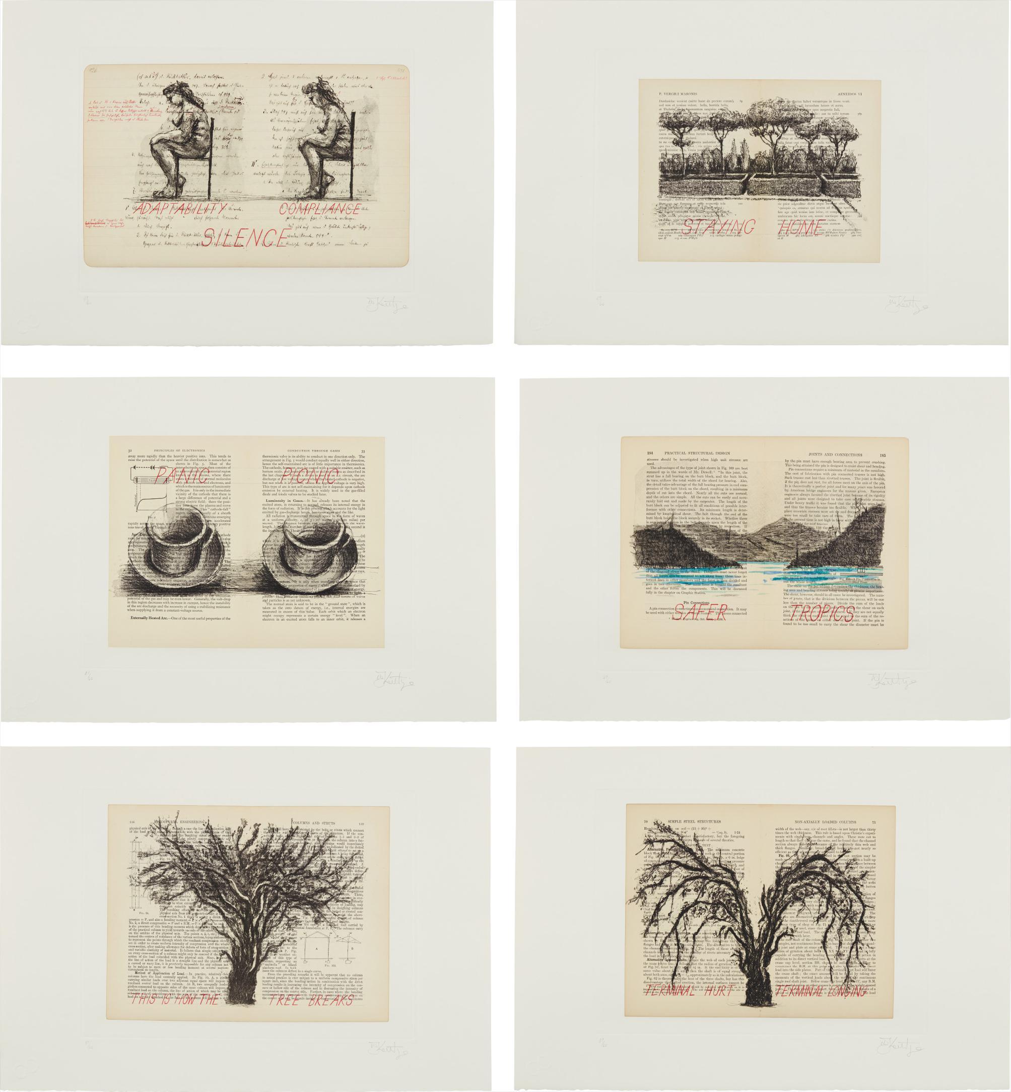 William Kentridge-Sleeping On Glass-1999