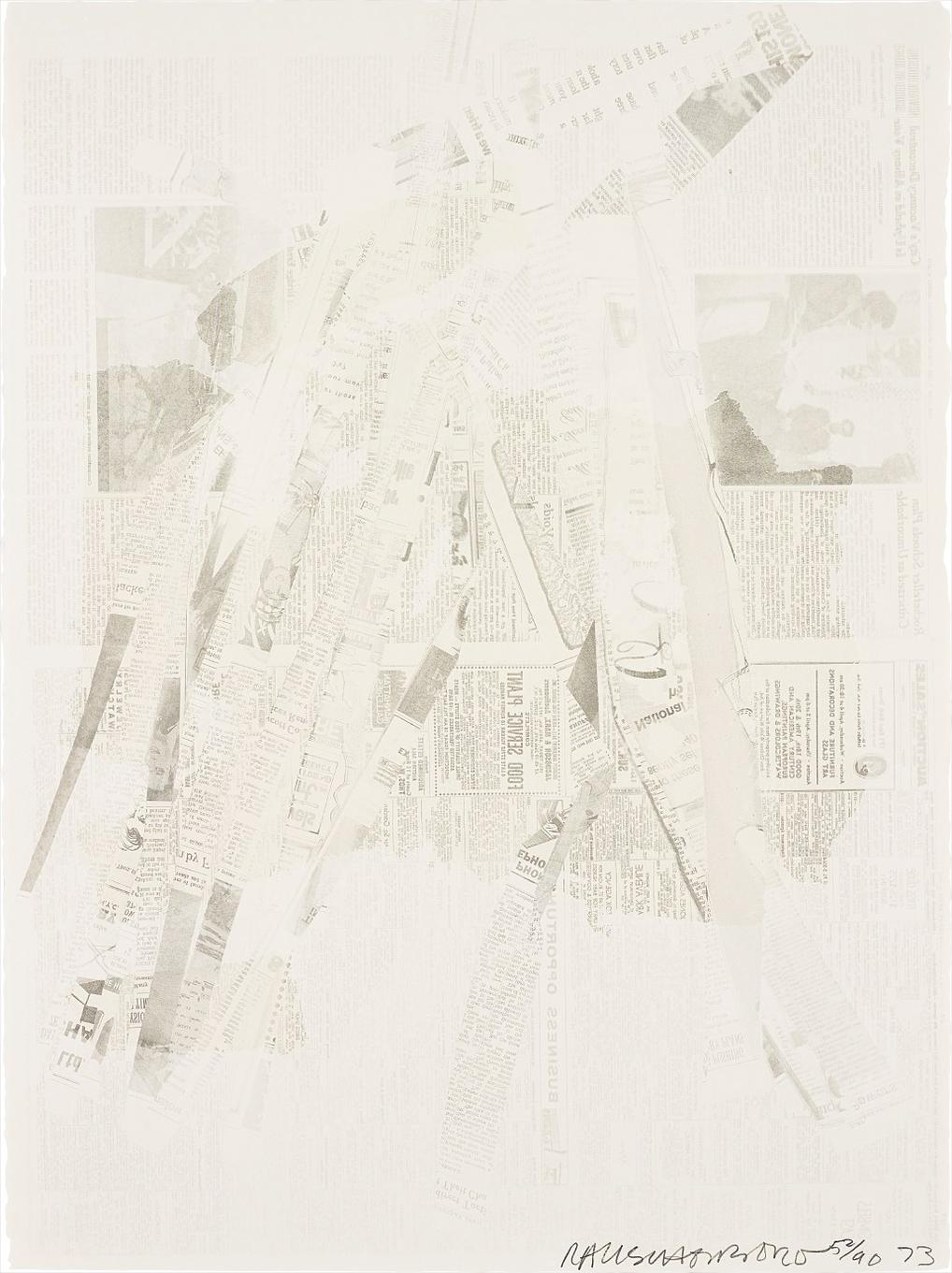 Robert Rauschenberg-Untitled, From Hommage A Picasso-1973