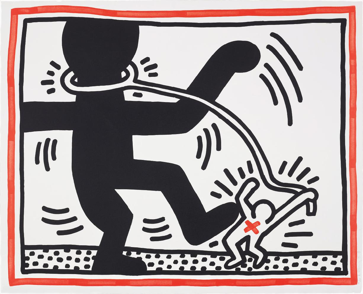 Keith Haring-Untitled, From Free South Africa-1985