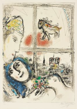 Marc Chagall-Paris De La Fenetre (Paris Through The Window)-1970